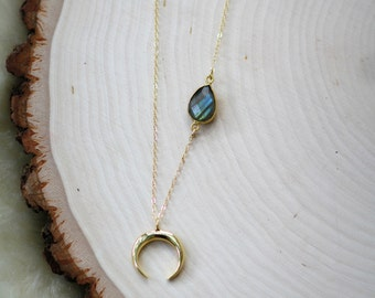 Satellite Moon Necklace