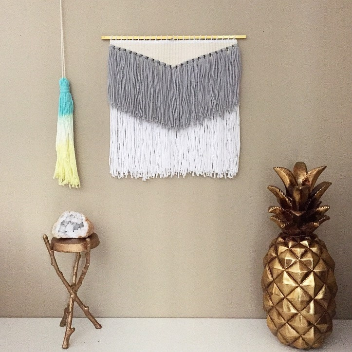 Woven Leaves Wall Decor : Weaving woven wall hanging textile art
