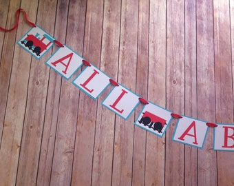 All Aboard Train Banner Party Decoration
