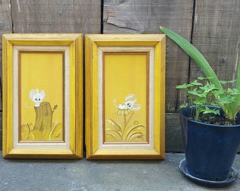 Vintage of Pair of Original Paintings / 1960s / Cute Mice