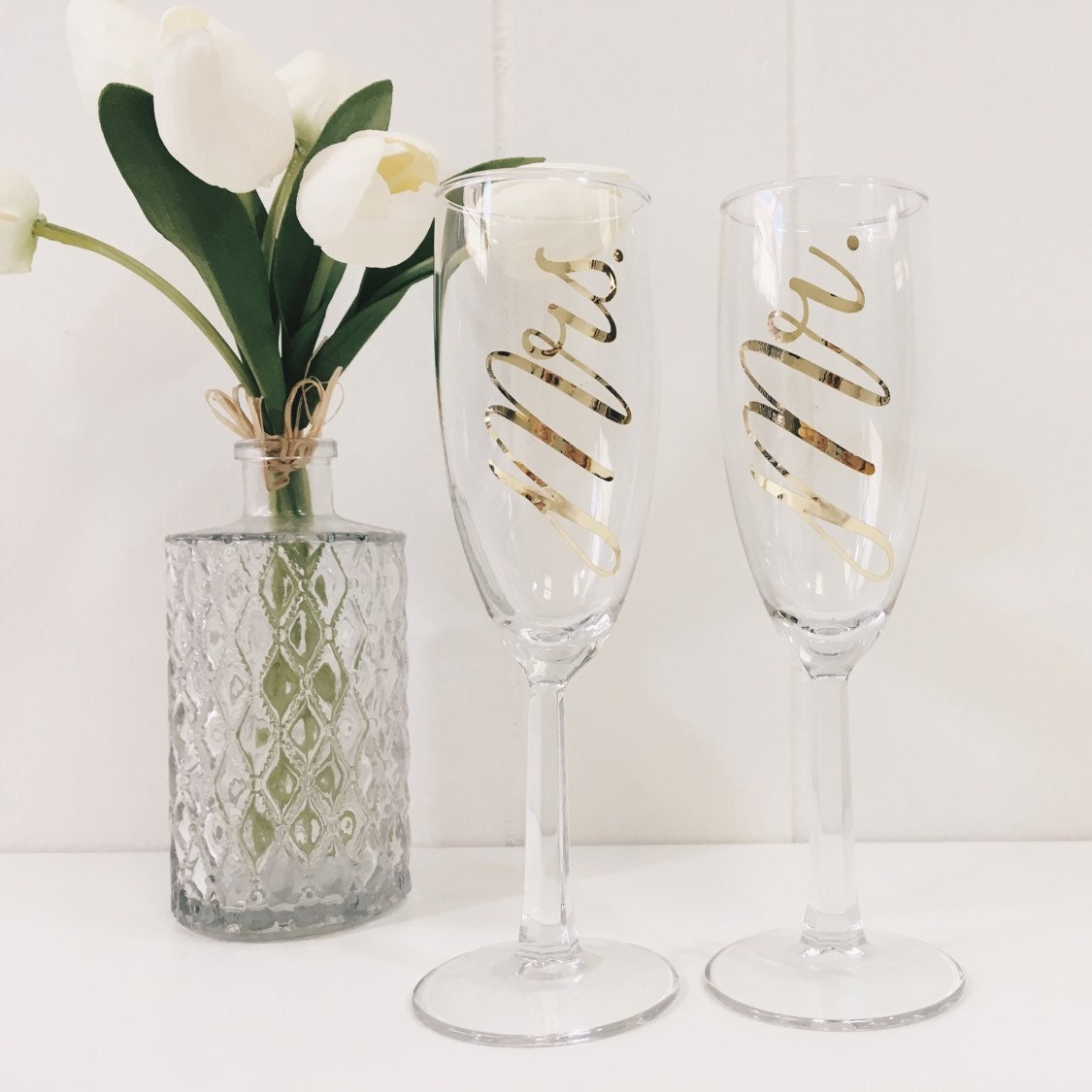 Wedding Present Champagne Glasses : Toasting flutes/Wedding Champagne Glasses/wedding gift/bridal
