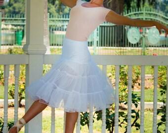 Grace Slip - Tea Length Petticoat - Crinoline Petticoat - Knee Length Petticoat - Petticoat Slip - Rockabilly Slip - Short Slip
