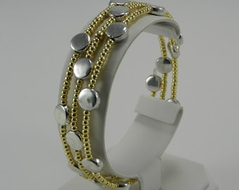 Silver Dot Wrap Bracelet   cayfiore