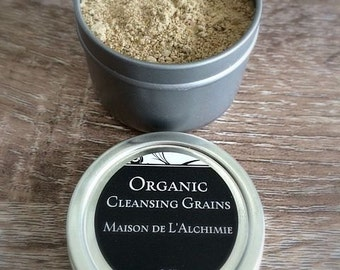 ORGANIC CLEANSING GRAINS - Facial Cleanser, Face Mask, Exfoliant, Natural Cleanser, Rosacea, Anti-Aging