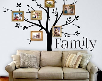 Family Tree Decor For Wall family tree wall decal | etsy