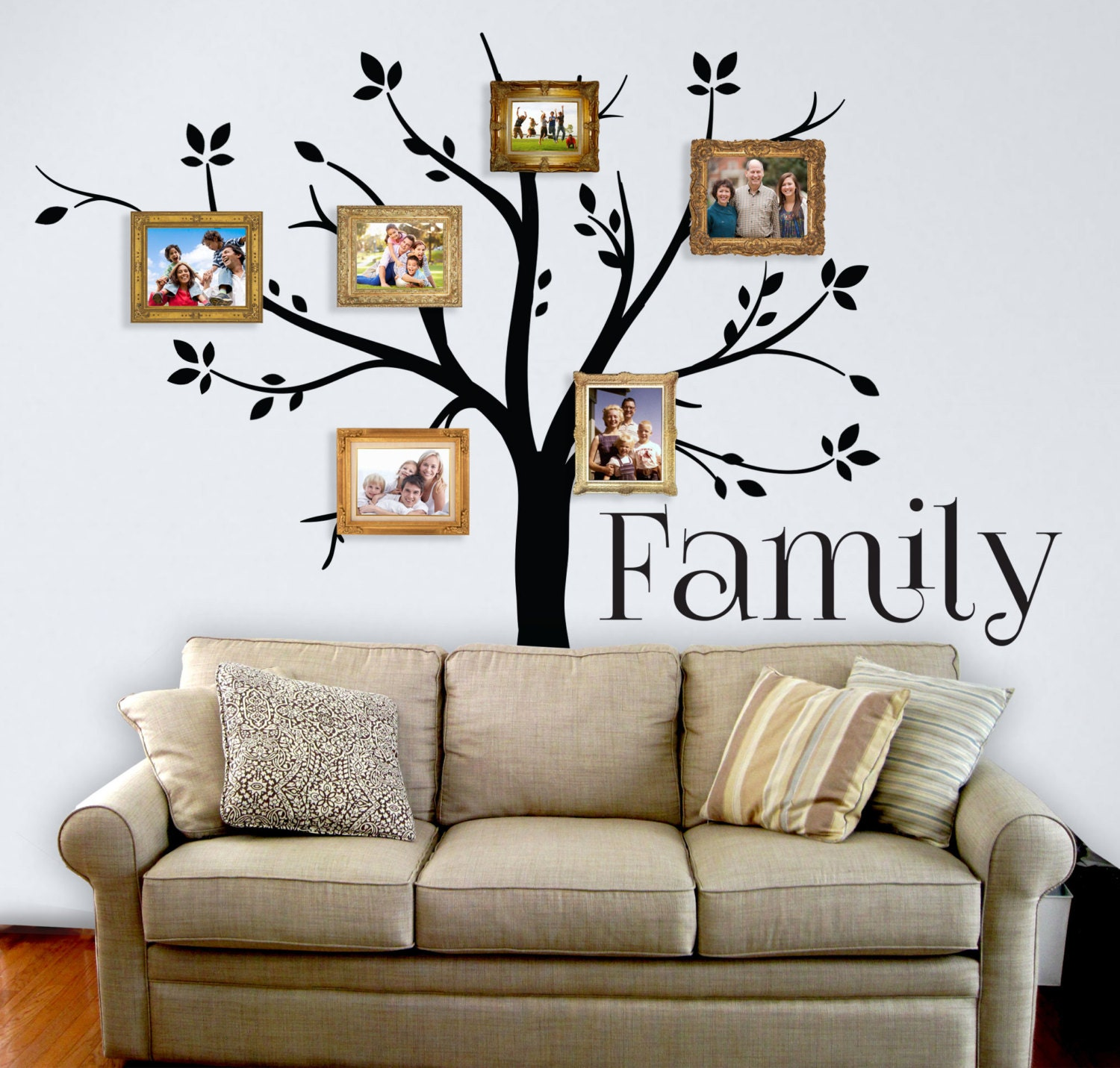 Family Tree Wall Decal Custom Vinyl Wall Decal Wall