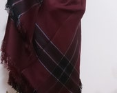 Burgundy Blanket scarf plaid blanket scarf plaid blanket scarf scarves rush order blanket scarves maroon blanket scarf women scarf
