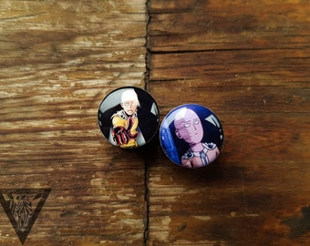 """Buy2get3 plugs One Punch men image wood ear tunnels,4,5,8,10,12,14,16,18,20,22-60mm;6g,4g,2g,0g,00g;1/4,5/16,3/8,1/2,9/16,5/8,3/4,7/8,1 1/4"""""""