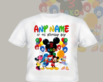 Any Name Of Birthday Boy Mickey Mouse Clubhouse Shirt Custom Tshirt  p218