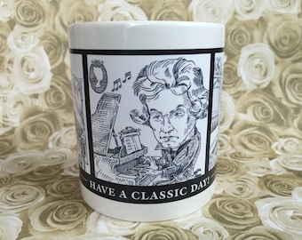Composers Coffee Mug - Have a Classic Day - Beethoven, Debussy & Bach - by Gary Price