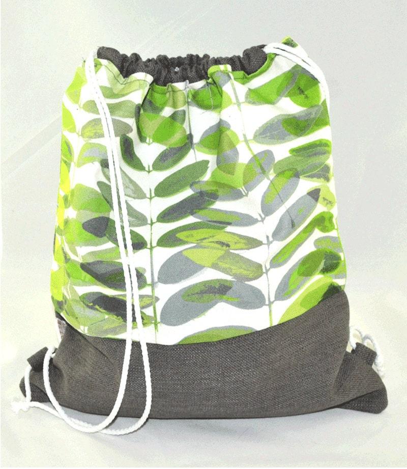 baluchon sac dos sac de sport sac de piscine sac par hottecouture. Black Bedroom Furniture Sets. Home Design Ideas