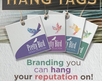 250 Custom Hang Tags - Custom Design and Printing - Double Sided UV Or Matte Finish