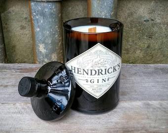 Hendrick's Gin Decor Scented Candle, Unique Scottish Gift, Repurposed Liquor Bottle