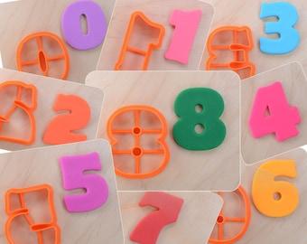 9 pcs Joyous Numbers Cookie Cutter Set