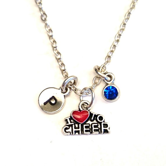 Cheer Charm Bracelets: Cheerleader Necklace Cheerleader Charm By GustavsDachshundShop