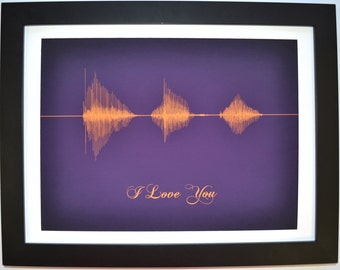 Unique personalized your voice sound wave print, unique gift for him her mother's father's day, science giclee wall art small worldwide