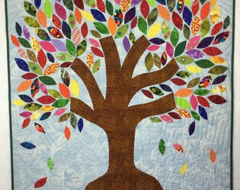 Freedom Tree quilted wallhanging