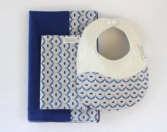Organic Baby Blanket, Baby Blanket Set,Organic Blanket,Bib,Burp Cloth,Organic Baby,Newborn Baby Gift,Swaddle Blanket,Receiving Blanket