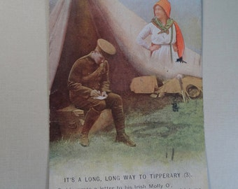 1915 WWI Tipperary Post Card