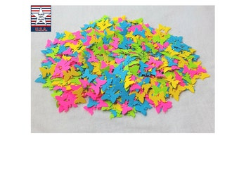 Butterfly Confetti, Baby Shower Butterfly Table Confetti, Neon Funfetti Confetti, Birthday Rainbow Confetti, Neon Party Decor, 800 Ct.