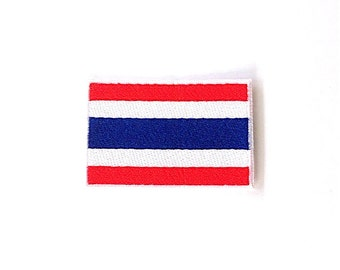 Thailand Flag Iron on Patch Size 5.27 x 3.51 cm