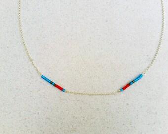 Miyuki choker, Friendship Necklace, Vermeil Gold Or Sterling Silver Chain, Sterling Silver Choker, Handmade Gift, Modern, Minimalst Jewelry