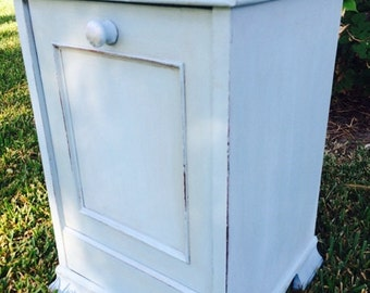 Vintage Coal Bin Side Table/Night Stand