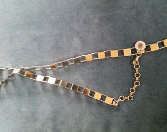 Vintage Silver Tone Chain Link Belt