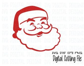 Santa svg file, Christmas svg digital design - cut files for silhouette, cricut & more - SVG dxf eps vinyl cut files