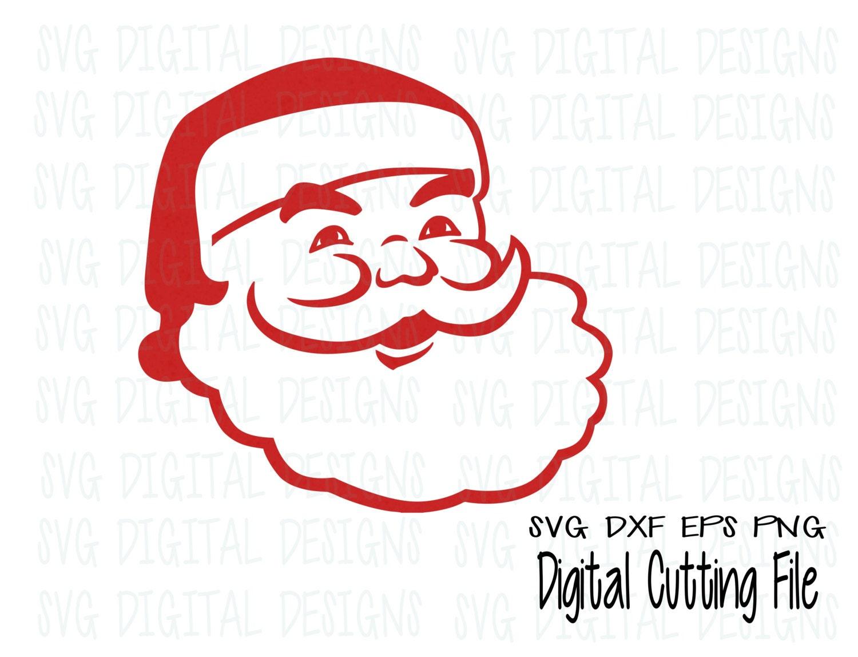 Santa Svg File Christmas Svg Digital Design Cut Files