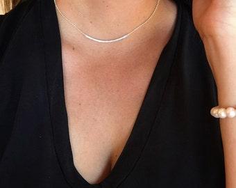 Perfect Diamond Bar Necklace