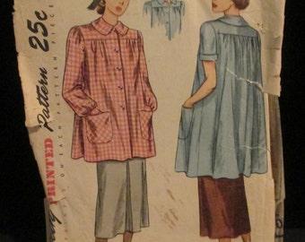 Vintage 1940's-50's Maternity Smock Pattern
