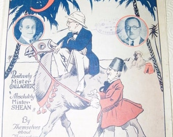 Vintage Sheet Music - Gallagher and Shean... very retro!