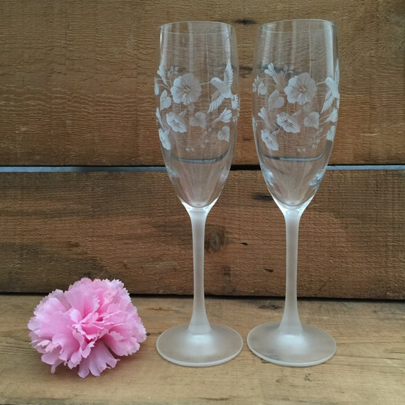 Wedding Gift Champagne Flutes: Champagne Flutes Bridal Shower Gift Wedding Gift