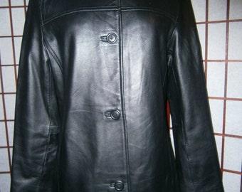 Girl's Lambskin Jacket - Black