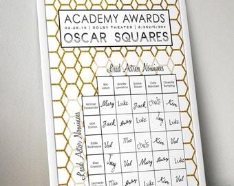 Oscar Party Game Squares / Academy Awards Party Game / Printable / 2016 Academy Awards Pool