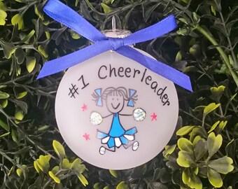 Cheerleader ornament,custom personalized cheerleader ornament,cheer leader,cheerleaders,cheerleader team,cheerleader gift,cheerleaders gift
