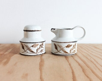 Midwinter Stonehenge Wild Oats Sugar Bowl & Creamer