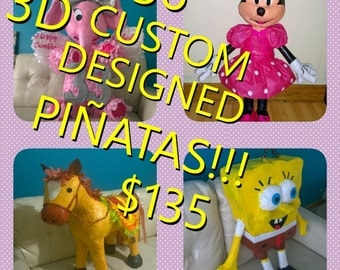 "Custom designed pinatas, 3D, 36"".  FREE SHIPPING with in the US for a limited time!"