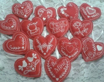 Valentine, Wedding machine embroidered hearts decorations