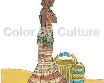 fashion coloring book printable around the world coloring pages volume 3 cultural coloring - Fashion Coloring Pages