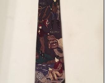 Fly Fishing Tie, Trout Fishing Necktie, Fishing Necktie