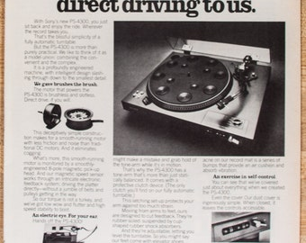 Sony Phono Turntable PS-4300 Ad from 1977 (AD175)