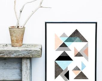 Printable Abstract Art, Wall Art Prints, Geometric Art, Scandinavian Modern, Art Print, Home Decor, Wall Decor, Modern Wall Art