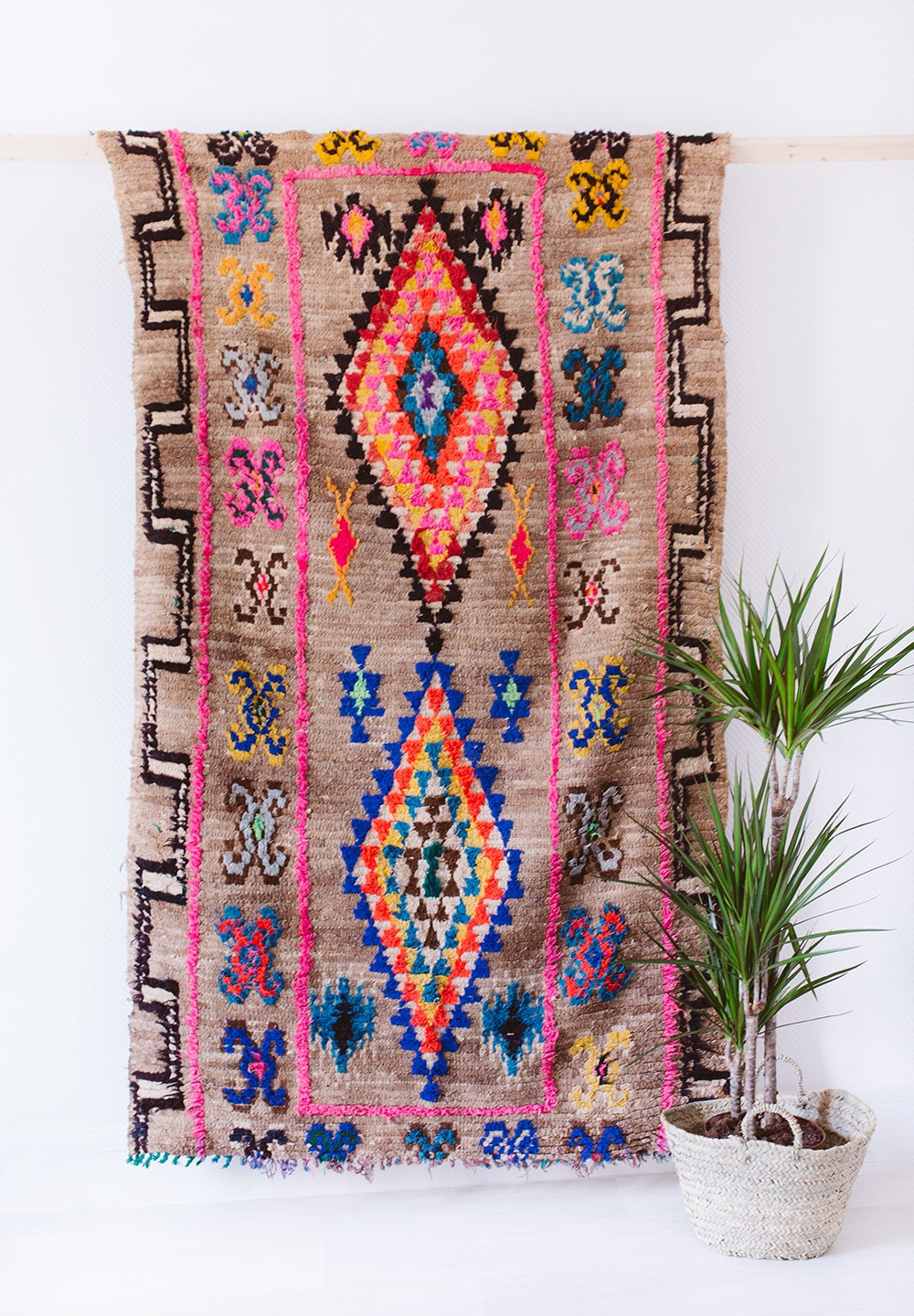 Vintage Moroccan Boucherouite Ourika Rug The Nico By