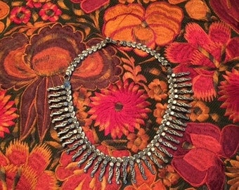 Enticing Vintage Silver Choker Necklace