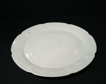 Colony Harvest Large Milk Glass Platter, Large Milk Glass Plate, Colony Harvest Torte Plate, Milk Glass Serving Tray