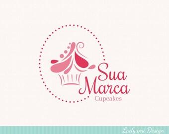 Cupcake Logo Design Bakery Logo OOAK Premade Logo Design Small Business