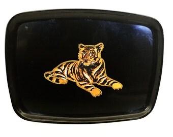 Vintage Couroc Tiger Tray