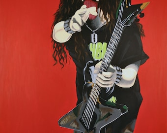 Dimebag Darrell, late great legendary guitarist for Pantera and Damage Plan, heavy metal but fun, RIP